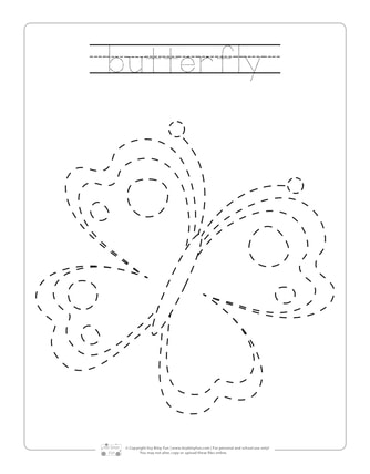 photo relating to Spring Printable Worksheets known as Spring Tracing Worksheets - Itsy Bitsy Entertaining