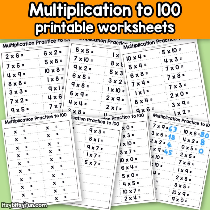 Multiplication Worksheets Facts