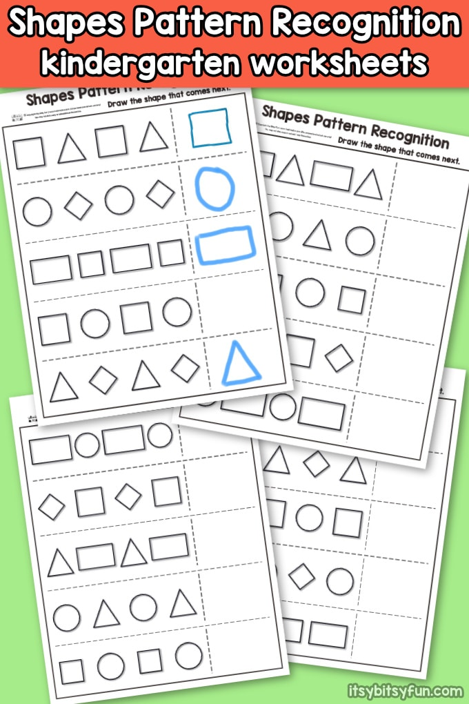 Shapes Pattern Recognition For Kindergarten Itsy Bitsy Fun