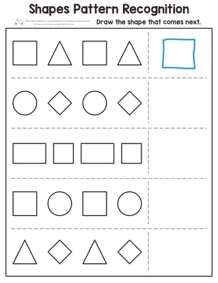 shapes pattern recognition for kindergarten itsy bitsy fun. Black Bedroom Furniture Sets. Home Design Ideas