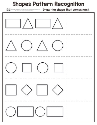 Pattern Recognition Kindergarten Worksheets