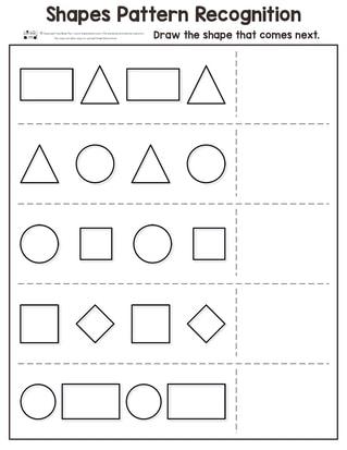 Pattern Recognition Kindergarten Worksheets